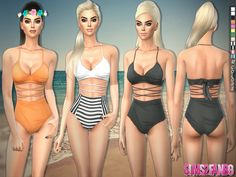The Sims Resource: 199 - Whole swimwear by sims2fanbg • Sims 4 Downloads