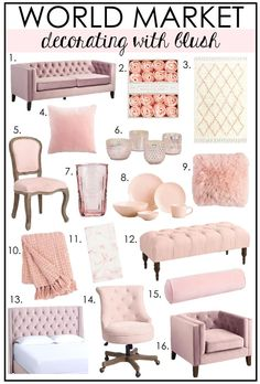 cute home decor LOVE of Decorating Adding Pops of Blush to your Decor discoverworldmarket wmaffiliate ad Room Decor Bedroom Rose Gold, Rose Gold Rooms, Living Room Decor, Blush Pink And Grey Bedroom, Bedroom Ideas, Primitive Bathroom Decor, Pink Office Decor, Cute Room Decor, Aesthetic Room Decor