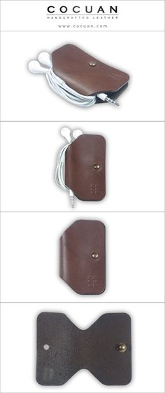 Cable organizer www. cocuan.com #leather #handmade #handcraftleather…