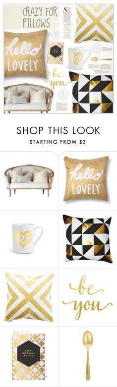 """""""◊ Golden Pillows (7/9)"""" by paty ❤ liked on Polyvore featuring interior, interiors, interior design, home, home decor, interior decorating, Xhilaration, Vitra, EASTON and KAROLINA"""