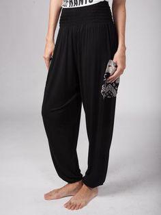 Kihari Black Stretch Harem Pants