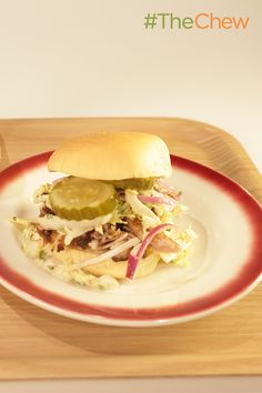 Carolina-Style BBQ Pulled Pork Sandwiches are a delicious and festive game day dish for your party!