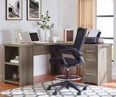 Large Furniture, Office Furniture, Furniture Ideas, L Shaped Corner Desk, L Shaped Executive Desk, L Desk, Traditional Office, Room Corner, California