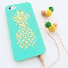earphones ananas phone case yellow mint jewels mobile mobilecase mobile case mobile handset pineapple print headphones case for iphone iphone case bag iphone case handy pineapple print phone case turquoise gold print phone case want want want Iphone 4, Iphone Phone Cases, Phone Covers, Summer Iphone Cases, Iphone Cases For Girls, Cool Cases, Cute Phone Cases, Claires Phone Cases, Cute Ipod Cases