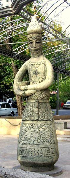 Public sculpture, Yerevan, Armenia