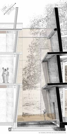 The proposed venue on behance architecture architecture sketchbook, archite Coupes Architecture, Detail Architecture, Architecture Board, Landscape Architecture, Technical Architecture, Sketchbook Architecture, Architecture Graphics, Architecture Portfolio, Architecture Drawing Plan