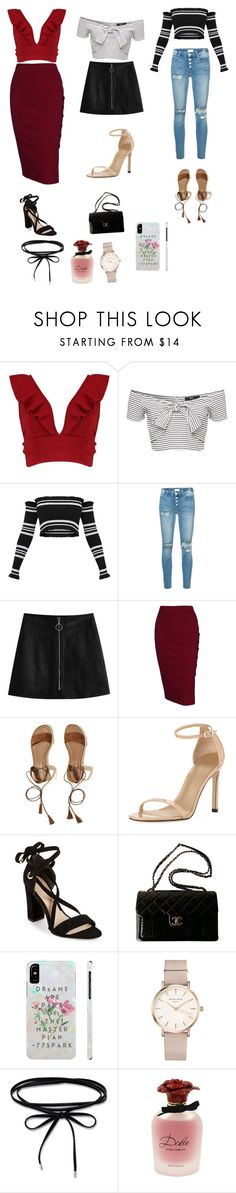 """Slaying 2018 ☺️😘"" by santana15 ❤ liked on Polyvore featuring Boohoo, Mother, Hollister Co., Stuart Weitzman, Diane Von Furstenberg, Chanel, ROSEFIELD and Dolce&Gabbana"