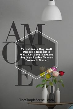 100's of wall decal designs to add a romantic touch to your master bedroom decor. Easy to install, looks painted on but 100% removable when you're ready for a change. Customize your favorite phrase online to match your decor and space perfectly. Preview before you buy. High quality materials, made in the USA, since 2002. Satisfaction guaranteed. #walldecor #decals #valentinesday #vday #valentinesdaygifts #romanticgifts #romanticdecor #romanticbedrooms #giftideas #roomdecor #walldecor #decals Master Bedroom, Bedroom Decor, Vinyl Wall Quotes, Love Phrases, Romantic Gifts, Beautiful Wall, Wall Art Designs, Wall Art Decor, Wall Decals
