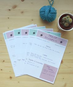 organisation tricot fiche Home Management Binder, Techniques Couture, Creation Couture, C2c, Filofax, Knitting Projects, Free Printables, Knit Crochet, Projects To Try