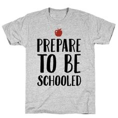 Our t-shirts are made from preshrunk 100% cotton and a heathered tri-blend fabric. Original art on men's, women's and kid's tees. All shirts printed in the USA. School is almost back in session and this teacher had been training all summer to school the new students this year! Show off your cool, rad teacher skills with this sassy and funny, school teacher shirt! Just in time to rock it for the new school year!