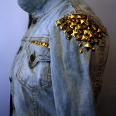 Studded Jean jacket<3 just got one of these.