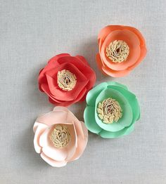 Paper Flower Place Settings | Collections Wedding | imeon design | Scoutmob Shoppe | Product Detail