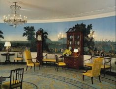 Zuber wallpaper in a room in the White House.