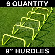 9 SPEED HURDLES Set of 6  New And Improved Design Highest Quality Net World Sports 9 inch >>> Read more reviews of the product by visiting the link on the image.