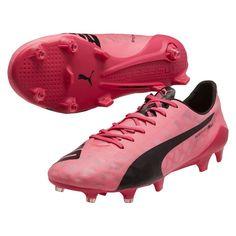Puma evoSPEED SL FG Soccer Cleats Fandango Pink-Black Botines Futbol 922938b5eb7e7