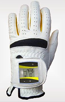 This SensoGlove golf glove has a built in sensor that constantly monitors grip pressure to teach you to loosen your grip so you improve your swing.
