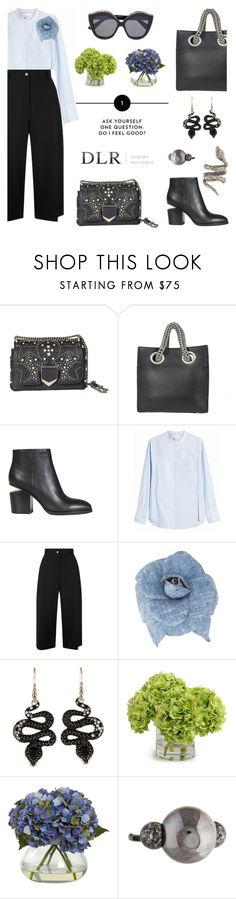 """""""Snakes and ladders: Welcome promo code DLR15"""" by pensivepeacock ❤ liked on Polyvore featuring Jimmy Choo, Alexander Wang, 3.1 Phillip Lim, Public School, Chanel, John Hardy, Nearly Natural, Lanvin and Alexis Bittar"""