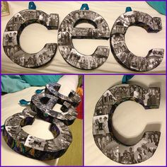 DIY picture collage letters Photo Collages, Industrial Revolution, Dyi Crafts, Craft Night, Dorm Ideas, Crafty Craft, Birthday Presents, Graduation Gifts, Lightning