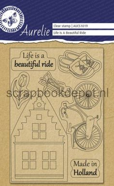 Aurelie Life Is A Beautiful Ride Clear Stampset