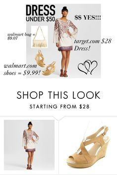 """DRESS UNDER $50"" by tammydevoll ❤ liked on Polyvore featuring Xhilaration and Dressunder50"