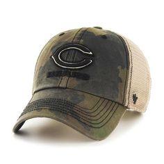 fa9b1f416a5 Mens Chicago Bears Frontline Burnett Clean Up Adjustable 47 Brand Hat