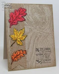 Stamps - Our Daily Bread Designs Autumn Blessings, ODBD Custom Fall Leaves and Acorn Die