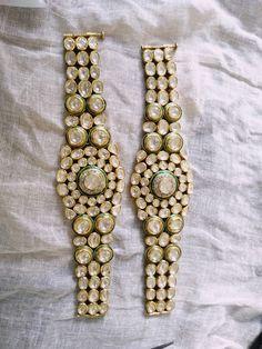 Beautiful Kundan meena polki bracelet