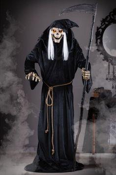 animated halloween figures reaper w lights and sounds scary decor motion sensor - Animated Halloween Figures