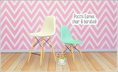 lina-cherie: Pocci's Eames chair & barstool This set includes 2 converted meshes;Eames chair - 6 colorsEames barstool - 6 colorsCredit: Pocci (meshes) Eversims (colorpalette)DOWNLOAD (dropbox) separate files My game is going to implode, lina-cherie and it's all your fault.