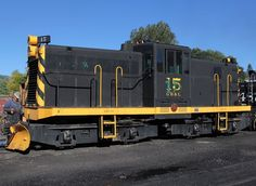 Cumbres & Toltec Scenic Railroad, GE 44-ton switcher four-axle diesel-electric locomotive in Chama, New Mexico, USA