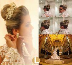 Coroa e brincos usados por Carmina Scardelato Saurin... espetacular... linda demais...