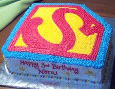 Supergirl logo cake