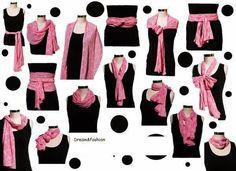 Need help with fashion? Better call Lorena: Los diferentes usos de la Pashmina Quien no tiene... Image Fashion, Look Fashion, Diy Fashion, Ideias Fashion, Fashion Outfits, Fashion Tips, Classic Fashion, Fashion Beauty, Ways To Tie Scarves