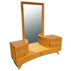 Paul Frankl For Brown Saltman Vanity With Mirror