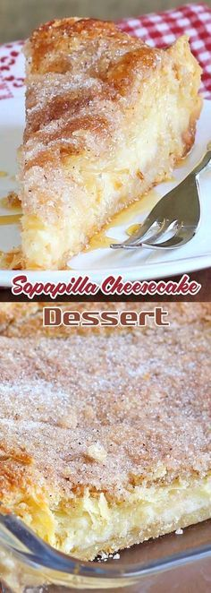 Pastel de queso y sopapilla - Simple Cake Recipes - Pastel de Tortilla 13 Desserts, Cheesecake Desserts, Delicious Desserts, Dessert Recipes, Yummy Food, Dessert Food, Dessert Dishes, Egg Recipes, Turkey Recipes