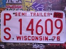 Vintage Wisconsin American licence Plate 14609