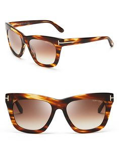 Tom Ford Celina Wayfarer Sunglasses   Bloomingdale's
