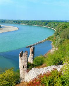 The river & surrounding nature are beautiful. (The maiden tower at Devin Castle, on the shores of Danube river, Slovakia) Places To Travel, Places To See, Places Around The World, Around The Worlds, Beautiful World, Beautiful Places, Bratislava Slovakia, Heart Of Europe, Danube River