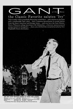 Gant vintage ad Yale