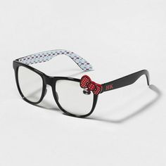 Adorably detailed Black Hellow Kitty Glasses available for purchase from @Fellow Fellow's Stores.