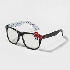 We ♥ the polka dot bow on these retro-fab Black Hello Kitty Glasses