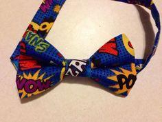 Superhero Bow tie Superhero hair bow comic book bow by LilNicks, $3.79