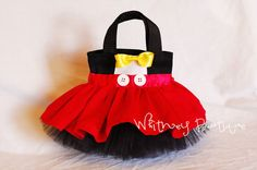 Mickey Mouse Tote Bag by WhitneyBoutique on Etsy Cowgirl Party, Mickey Mouse Birthday, Disney Mickey Mouse, Minnie Mouse, Tutus For Girls, Girls Bags, Sassy Disney, Red Polka Dot Skirt, Disney Handbags