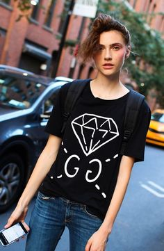 Gucci t-shirt spotted on the street at New York Fashion Week. Photographed by Phil Oh.