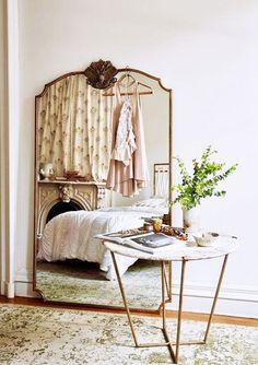 vintage brass framed mirror. / sfgirlbybay