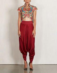 debyani# draped dhoti # cropped top look # ogaan