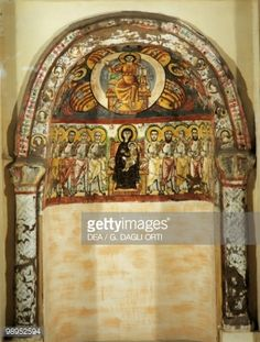 View top-quality stock photos of Egypt Bawit Monastery Of Saint Apollo Painted Niche Painted Niche. Find premium, high-resolution stock photography at Getty Images. Christian Symbols, Christian Art, Byzantine Art, Orthodox Icons, Art Styles, Egyptian, Christianity, Religion, Stock Photos