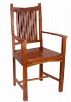 Asian Modern Mahogany Drexel Triune Dining Chairs