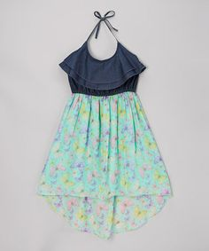 I BOUGHT IT FOR KAYLI!!  Look what I found on #zulily! Aqua Butterfly Dress - Girls by Dollhouse #zulilyfinds