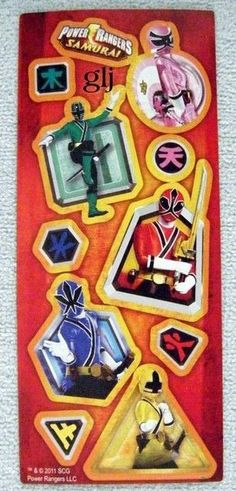 Power Rangers - Samurai - Scrapbooking Stickers Nwop Agc